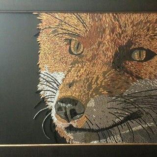 خرید تابلو نقاشی روباه(موزاییک شکسته)
