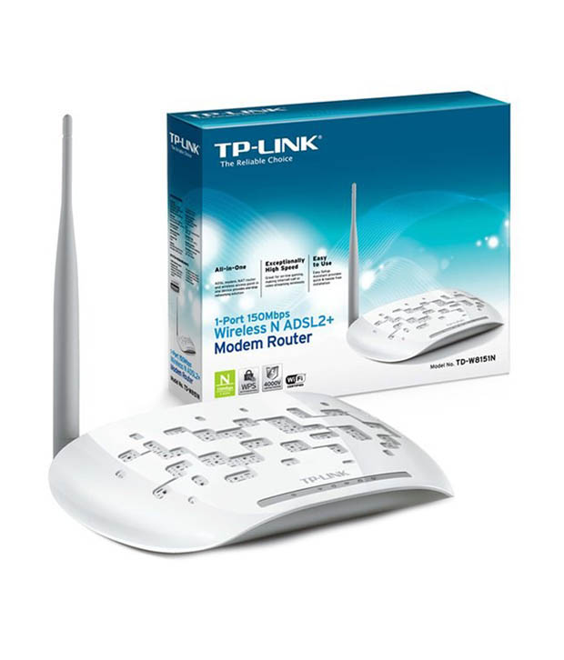 TP-LINK TD-W8151N 150Mbps Wireless N ADSL2 Plus Modem Router